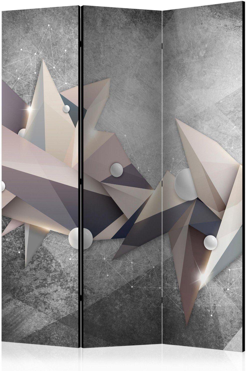 Parawan 3-częściowy - geometryczny gwiazdozbiór [room dividers]