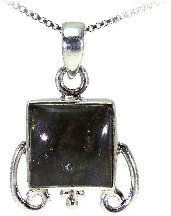 Kuźnia Srebra - Zawieszka srebrna, 27mm, Labradoryt, 4g, model