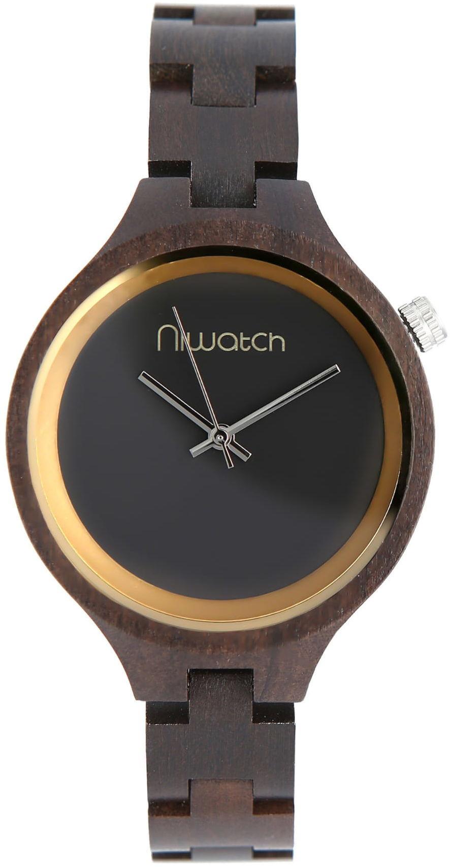 Damski zegarek drewniany Niwatch - kolekcja ELEGANCE - HEBAN