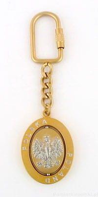 Brelok - Orzeł (owalny złoty)