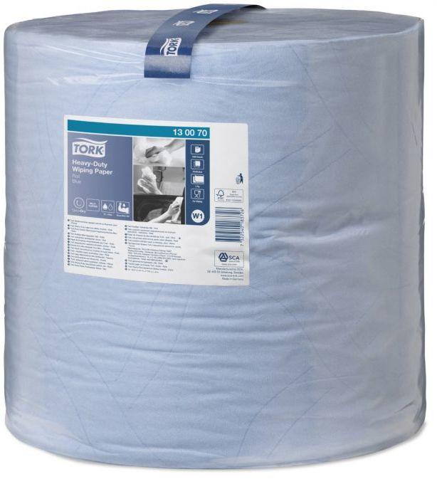 Czyściwo papierowe wielozadaniowe Tork Premium do trudnych zabrudzeń w dużej roli niebieskie