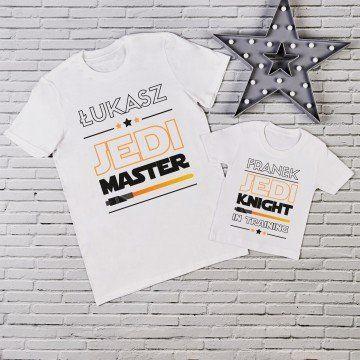 Jedi master - Zestaw Koszulek Taty i Dziecka