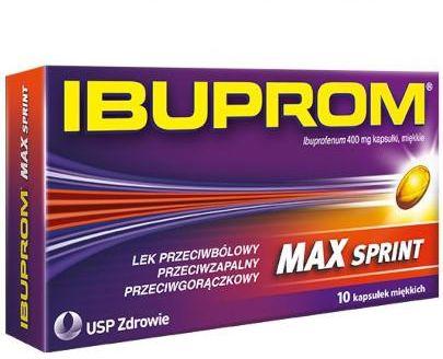 Ibuprom Max Sprint 400mg 10 kapsułek