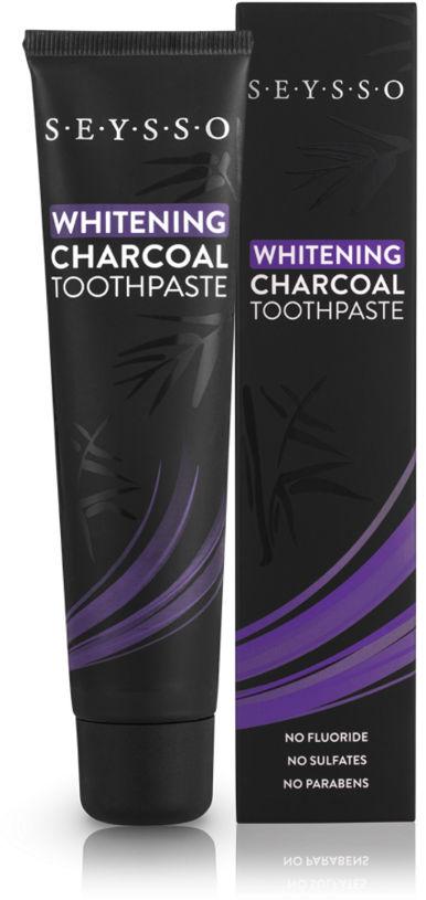 SEYSSO Carbon Whitening BLACK 75ml wybielająca pasta do zębów z aktywnym węglem