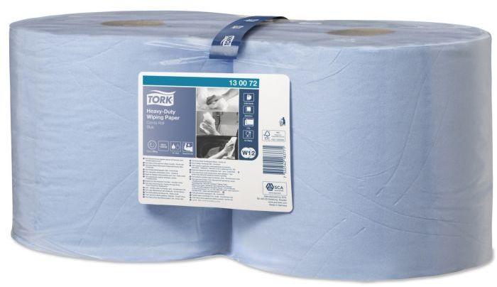 Czyściwo papierowe wielozadaniowe Tork Premium do trudnych zabrudzeń w roli niebieskie