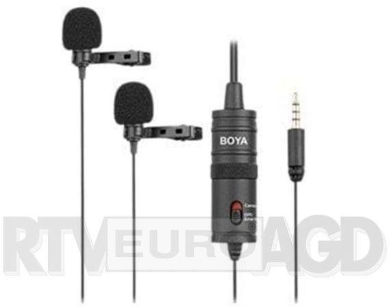 Mikrofon Boya BY-M1DM podwójny krawatowy
