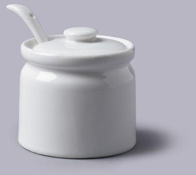 Porcelanowy pojemnik na cukier. dżem lub musztardę