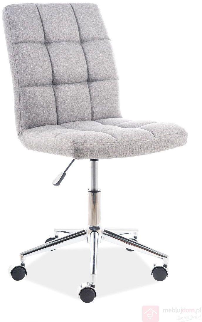 KUPON 10% NA STRONIE  Fotel obrotowy Q-020 Signal tkanina materiałowa Szary