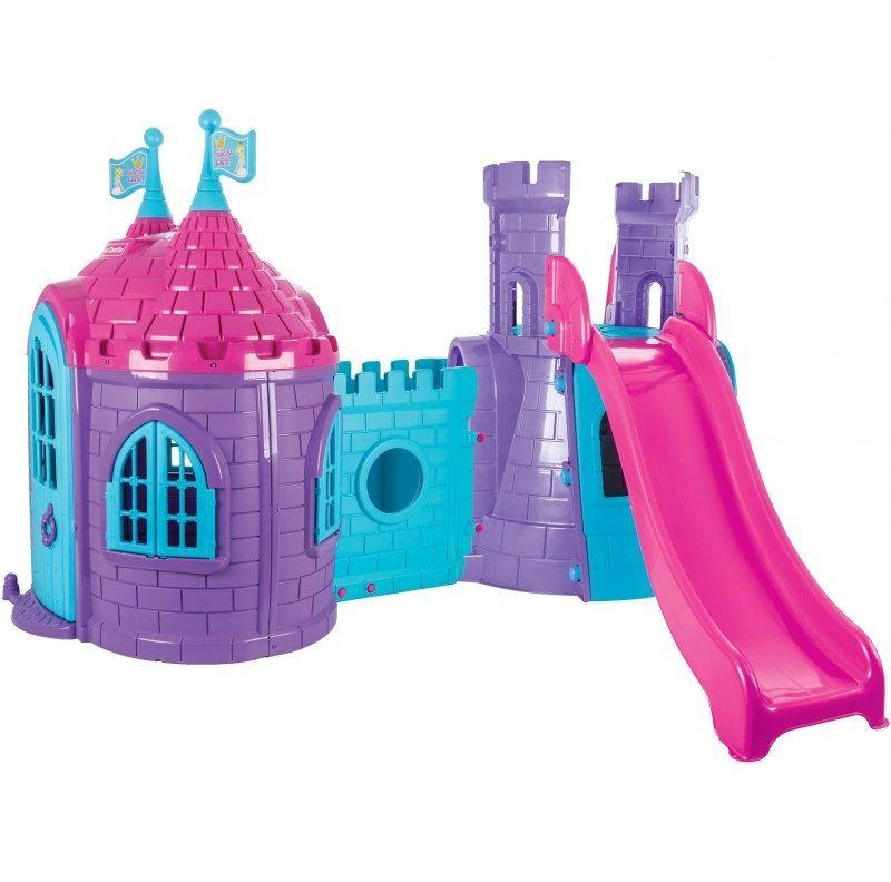 WOOPIE Plac Zabaw Pałac Domek Zjeżdżalnia dla Dzieci