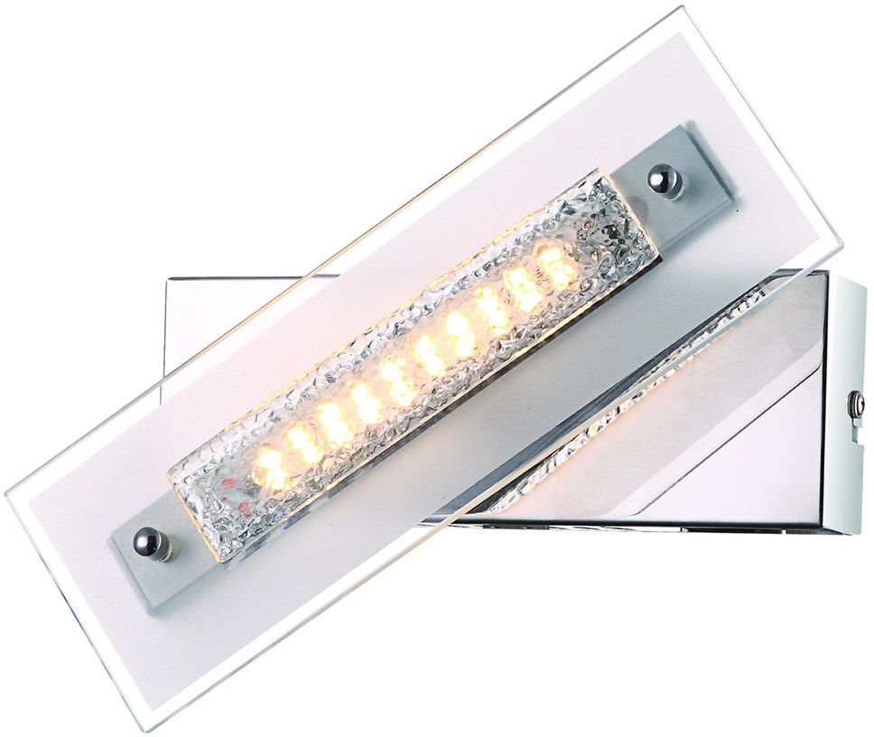 Italux kinkiet lampa ścienna Adamo W29534-1A chrom szkło LED 4W 3000K