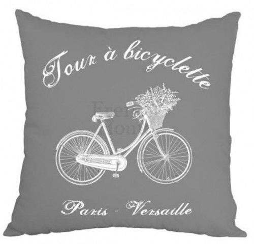 Poduszka ozdobna Bicyclette szara