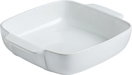 Pyrex 8013109.0 podpis ceramiczna kamionka prostokątna naczynie 22 x 22 cm białe