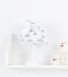MAMO-TATO Lampka Nocna Chmurki szare na bieli