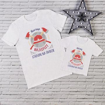 Najlepszy strażak - Zestaw Koszulek Taty i Dziecka