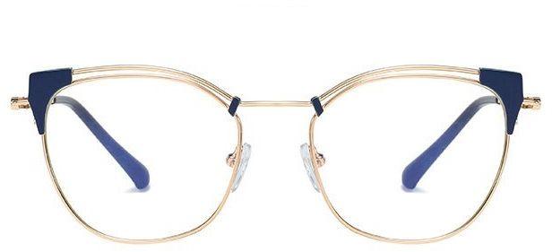 Okulary kocie do komputera damskie z filtrem BLUE Light zerówki 2565-1