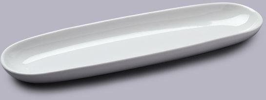 Porcelanowy talerz na bagietkę