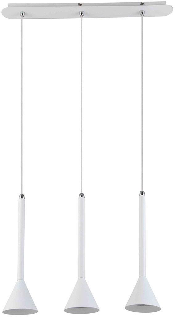 Italux lampa wisząca Anela WH FH31793-AJ13 WH potrójna na listwie biała LED 57cm