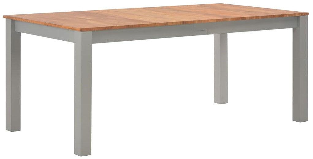 Stół jadalniany z drewna dębowego Erin 2X  szary