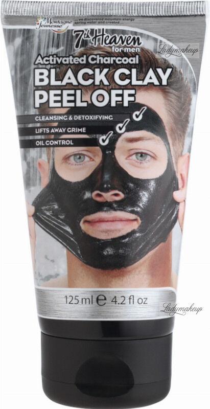 7th Heaven (Montagne Jeunesse) - Activated Charcoal Black Clay Peel Off - Oczyszczająca maska z czarnej glinki dla mężczyzn - Peel Off - 125 ml
