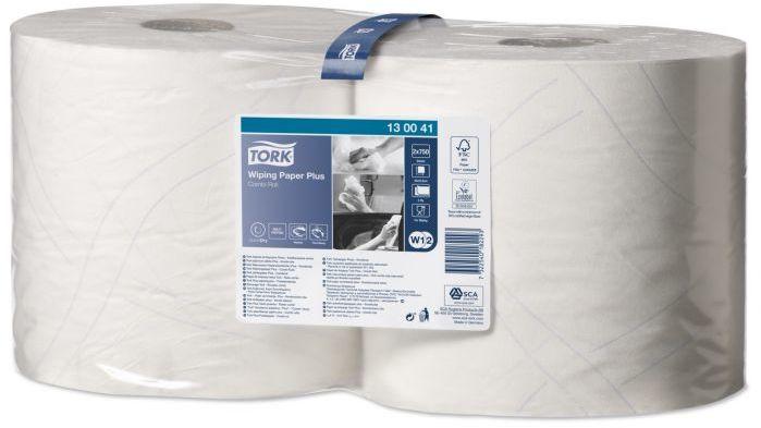 Czyściwo papierowe Tork do średnich zabrudzeń białe