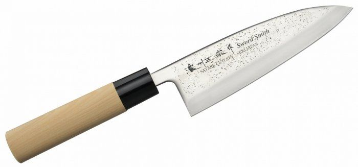 Nóż Deba 15,5 cm Satake Nashiji Natural