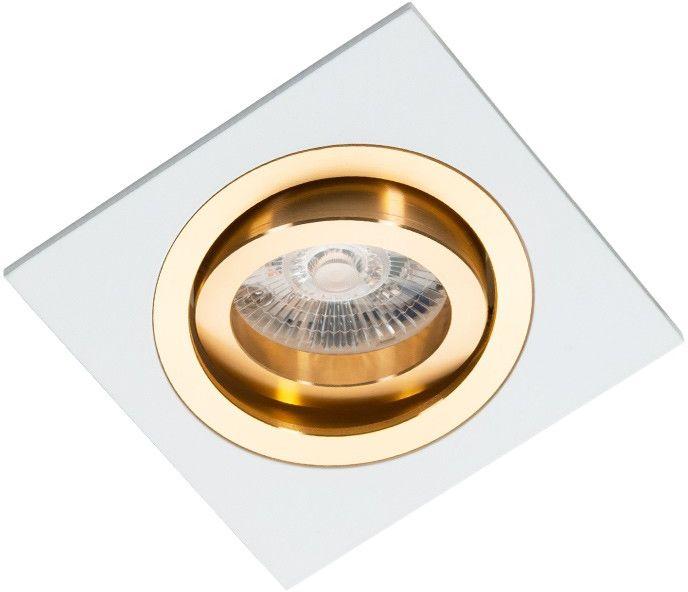 Oprawa podtynkowa regulowana Alcazar biało złota - Lumifall // Rabaty w koszyku i darmowa dostawa od 299zł !