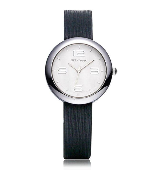Elegancki zegarek damski GeekThink na czarnym pasku