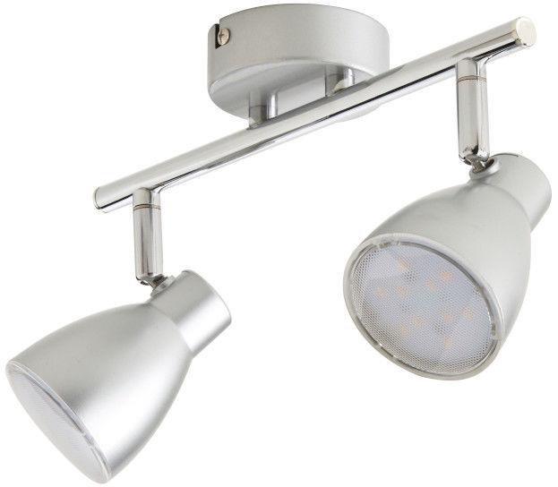 Spot Colours Bomos 2 x LED srebrny