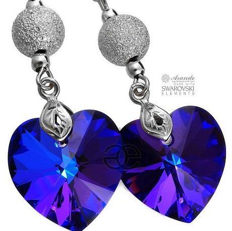 piękne kolczyki Kryształy HELIO DIAMOND SREBRO
