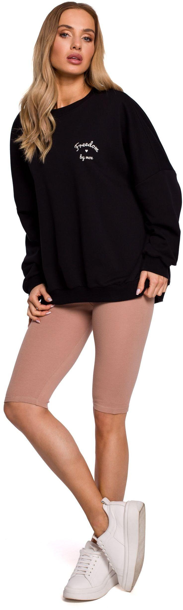 Bawełniane legginsy typu kolarki - mocca