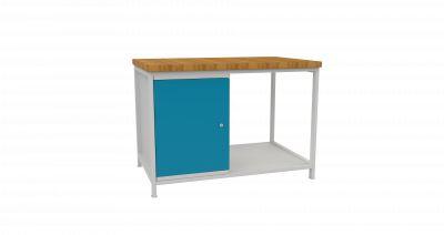 Metalowy stół warsztatowy, szafka i 4 szuflady STW 401 szer.1200mm