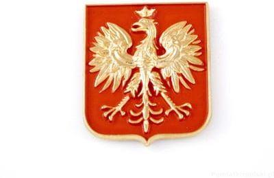 Godło Polski złote - magnes