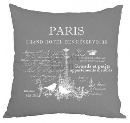 Poduszka ozdobna Paris szara