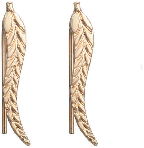 Kolczyki w kształcie listków na bigiel