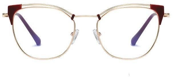 Okulary kocie do komputera damskie z filtrem BLUE Light zerówki 2565-4