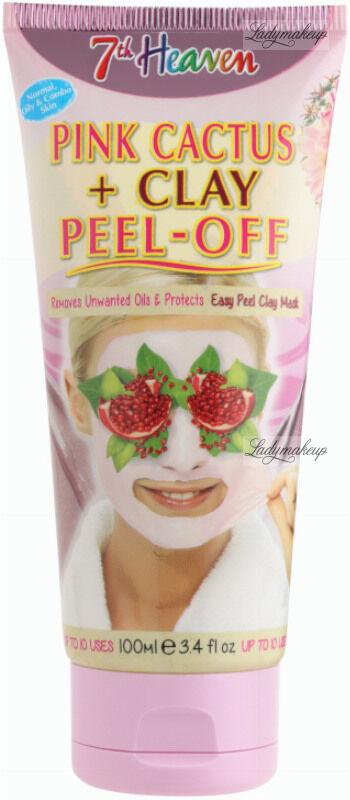 7th Heaven (Montagne Jeunesse) - Pink Cactus + Clay Peel Off Mask - Oczyszczająca maseczka do twarzy z różowym kaktusem - Peel Off - 100 ml
