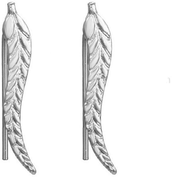 Kolczyki w kształcie listków na bigiel listki