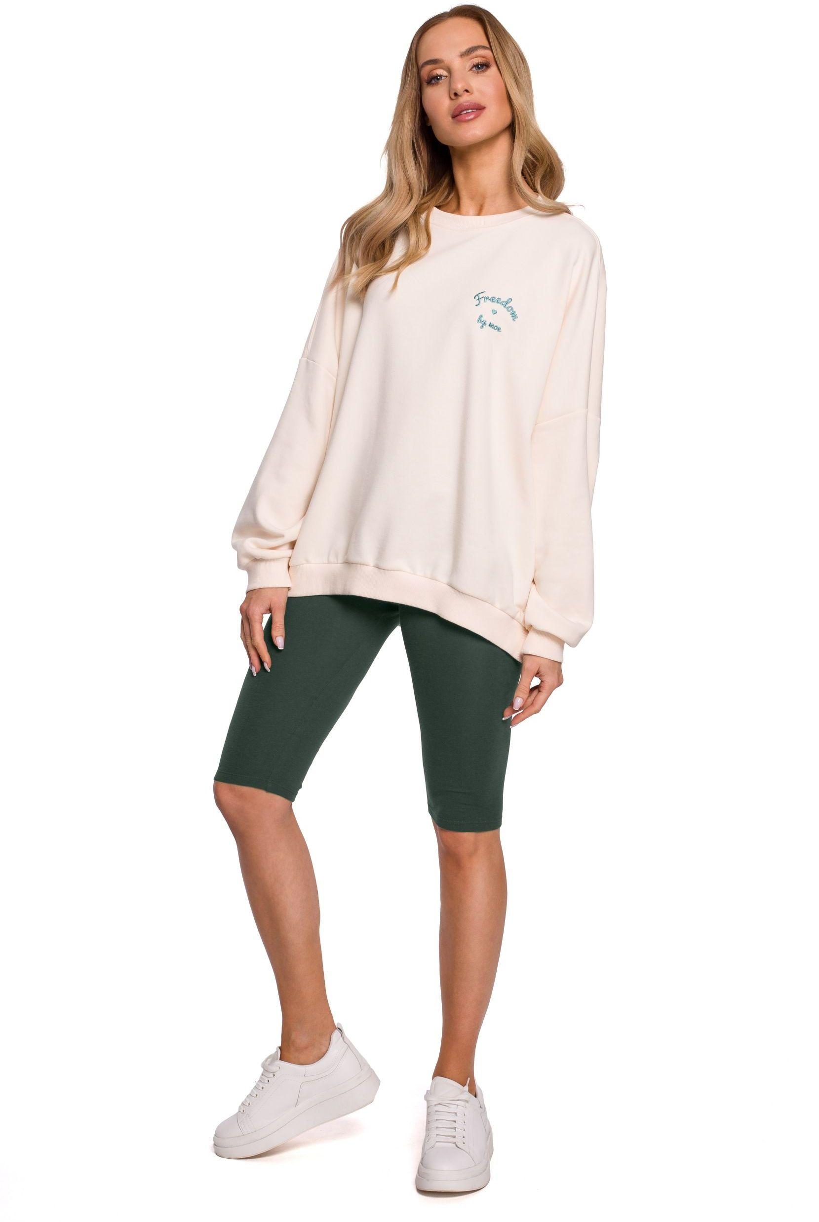 Bawełniane legginsy typu kolarki - zielone
