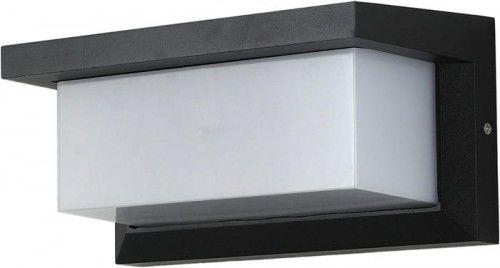 Kinkiet, lampa ogrodowa CETUS 1 x E27 IP54 z czujnikiem ruchu i zmierzchu - czarny