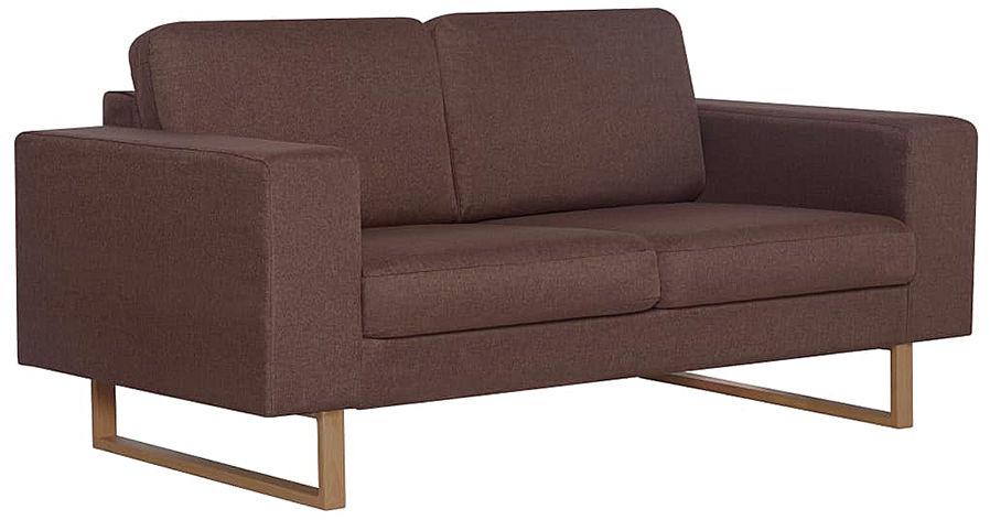 Elegancka dwuosobowa sofa Williams 2X - brązowa