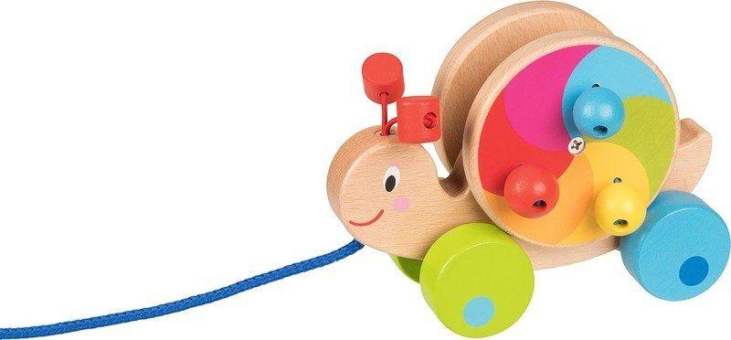 Drewniana zabawka do ciągnięcia Ślimaczek w podróży 54900- Goki, zabawki drewniane