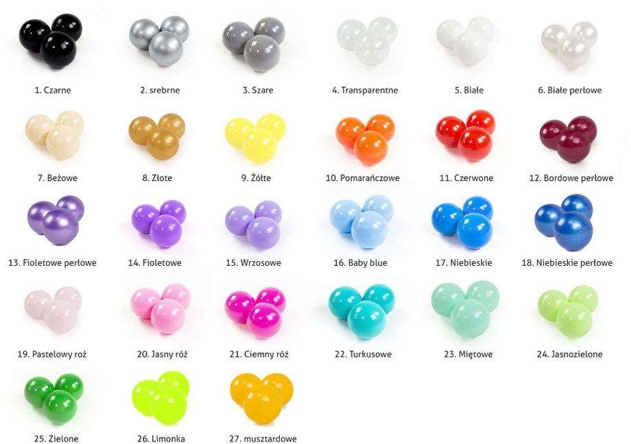 Piłeczki do suchego basenu wybierz kolor