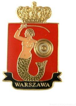 Herb Warszawa - przypinka