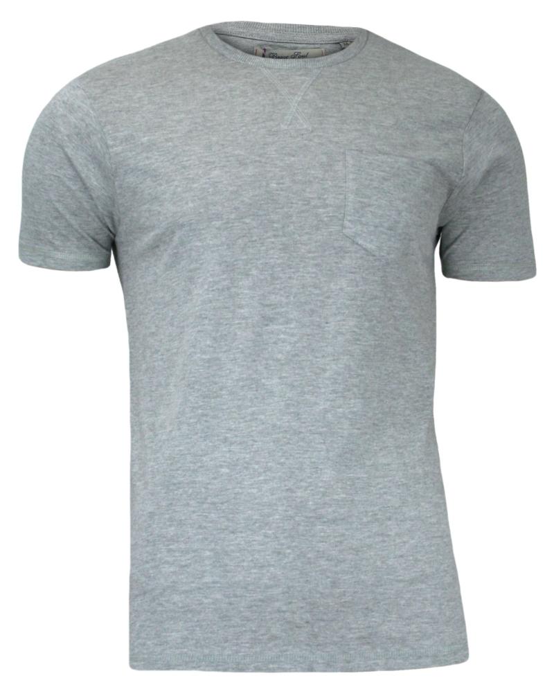Szary T-Shirt (Koszulka) z Kieszonką, Bez Nadruku - Brave Soul, Męski TSBRSSS16ARKHAMGREY