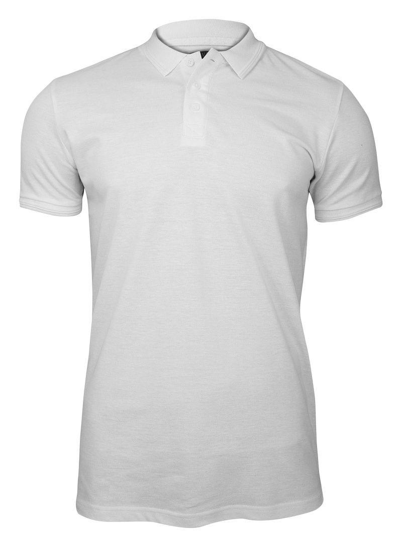Biała Koszulka Polo z Kołnierzykiem, Bez Nadruku -Brave Soul- Męska, Jednokolorowa TSBRSSS19HELIXwhite