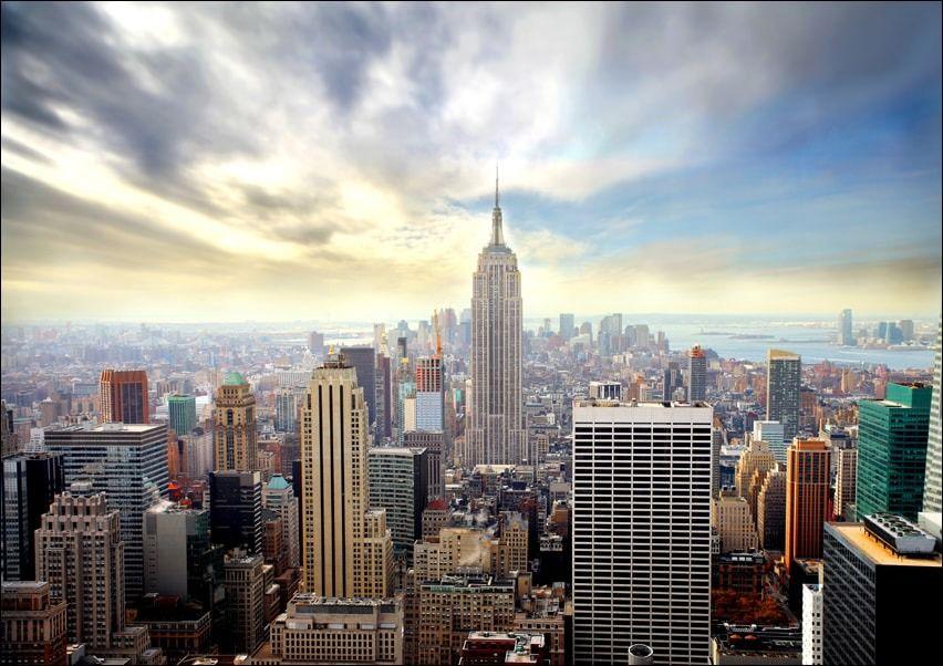 Manhattan, new york - plakat wymiar do wyboru: 91,5x61 cm