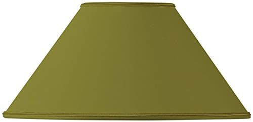Klosz lampy w kształcie retro, 20 x 08 x 12 cm, zielony/brąz