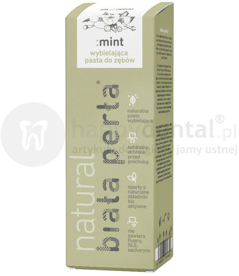 BIAŁA PERŁA Natural Mint wybielająca pasta do zębów o naturalnych składnikach aktywnych
