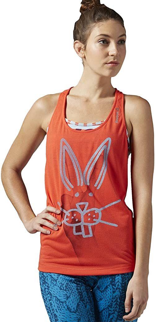 Reebok Damska koszulka bez rękawów Yoga Rabbit Tank, Laser Red, XL