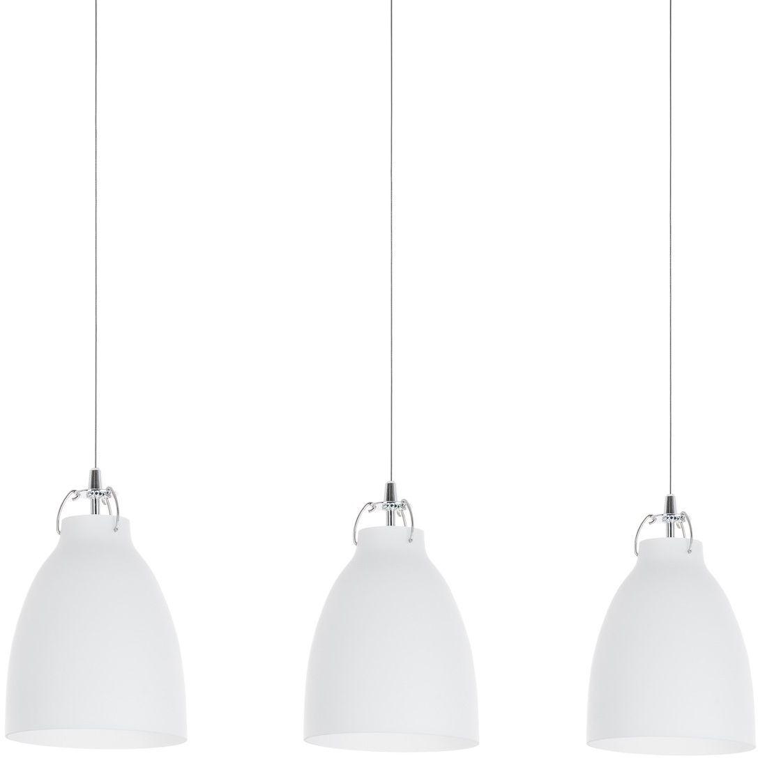 Italux lampa wisząca Leonardo MD14003055-3A biała szklana potrójna na listwie 76cm
